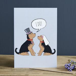 Yorkie Wedding / Engagement / Anniversary Card
