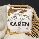 Personalised 'Stay Wild' Sequin Cushion