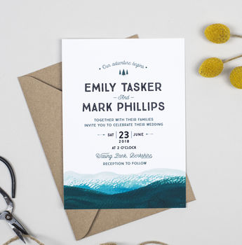 Adventure Wedding Invitations