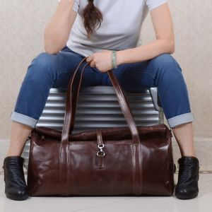 Eazo Extendable Leather Holdall Duffel Bag
