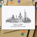 'Where It All Began' Skyline Anniversary Card