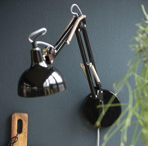 Black Architect Model Wall Lamp