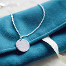 Personalised Favourite Song Lyric Disc Necklace