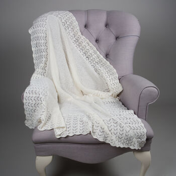 100% Cashmere Sunshine Christening Shawl