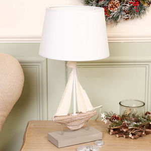 French Nautical Sailboat Lamp - new in home