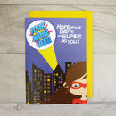 Personalised Superhero Birthday Card Girl