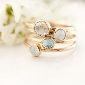 Ocean Mist Stacking Ring Set - new in jewellery