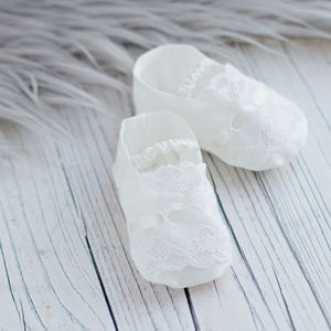 Christening Booties 'Violet' - christening wear