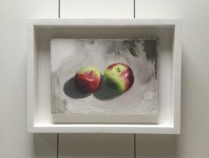 Original Oil Still Life 'Apples' - paintings