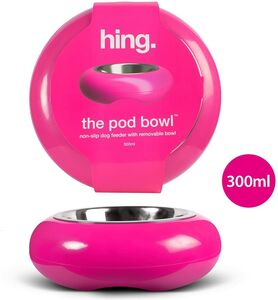 Pod Pet Dog Cat Feeding Bowl Pink 300ml