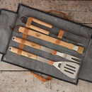 Denim Personalised BBQ Tool Set