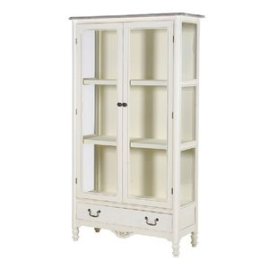 Wooden Glazed Display Cabinet Bookcase - kitchen