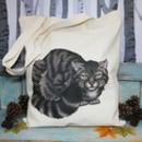 Scottish Wildcat Illustration Fair Trade Tote Bag