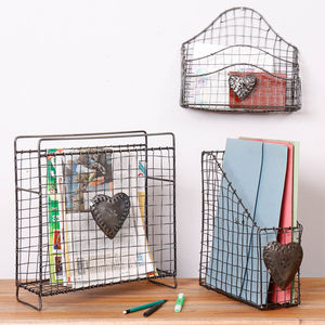 Industrial Style Zinc Home Office Storage Collection - baskets