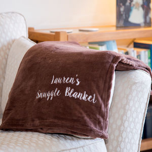 Personalised Snuggle Blanket - bedroom