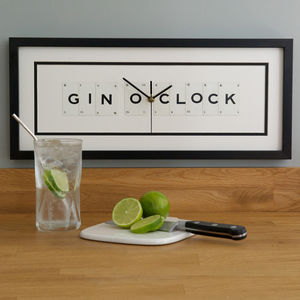 Gin O Clock Frame Clock - drinks connoisseur