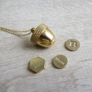 Secret Container Acorn Locket Necklace - necklaces & pendants