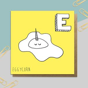 Egg Unicorn Card