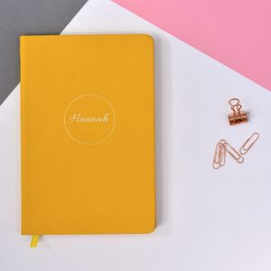 Personalised Delicate Cursive Style Notebook
