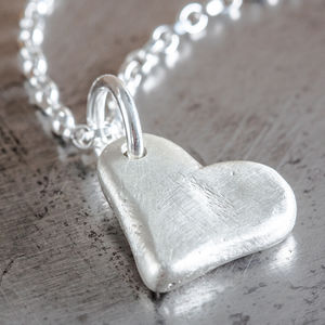 Personalised Small Heart Charm Necklace