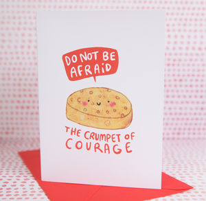 'Crumpet Of Courage' Card