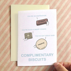 Personalisable Biscuits Birthday Card - birthday cards
