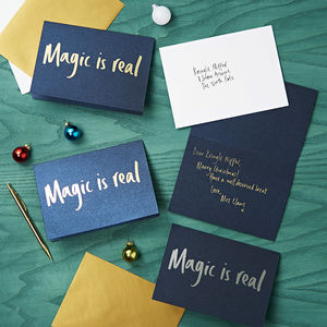 Magic Is Real Foiled Luxury Christmas Card - cards & wrap