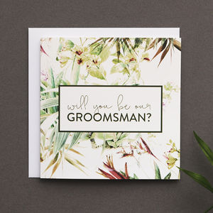 'Will You Be Our Groomsman?' Card