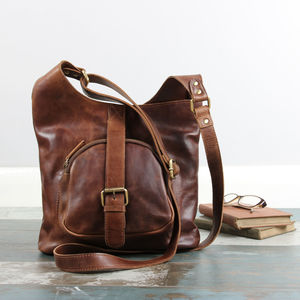 Leather Cross Body Buckle Shoulder Bag - cross body bags
