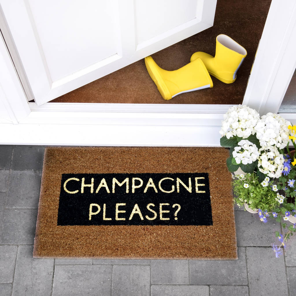 Gold Glitter Champagne Doormat By The Letteroom