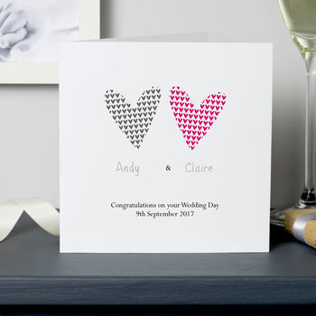 Two Hearts: Personalised Couple Card