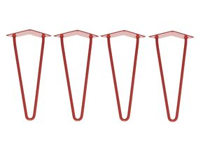 Four X Two Rod Red Hairpin Legs In All Sizes - furniture