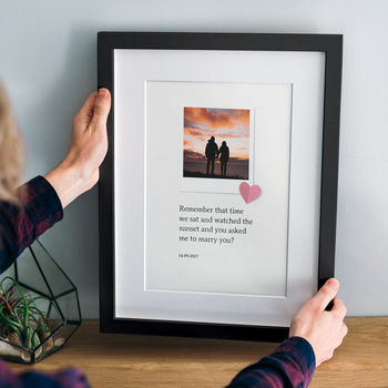 Personalised Photo And Quote Print