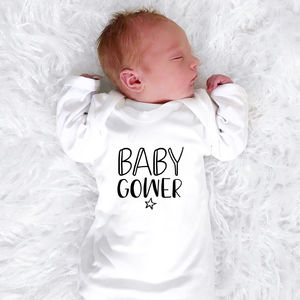 Personalised New Baby Star Babygrow