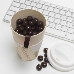 Chocolate Coffee Beans And Reusable Cup - novelty chocolates