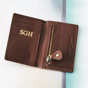 Personalised Luxury Card Wallet - 3rd anniversary: leather