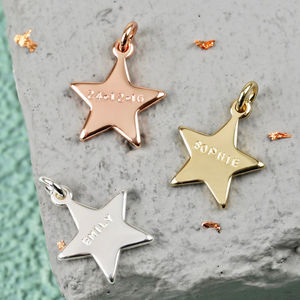 Personalised Hand Stamped Star Bracelet Charm - charm jewellery