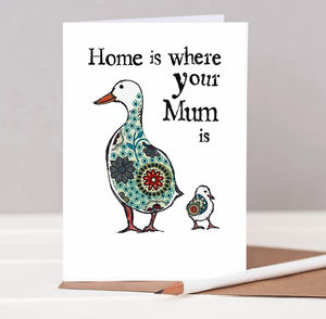 'Home is Where Your Mum is' Card - shop by category