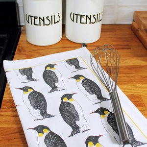 Penguin Party Tea Towel