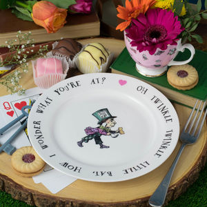 Mad Hatter Alice In Wonderland Tea Plate - dining room