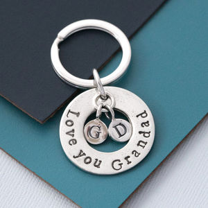Love You Grandad Keyring - gifts for grandfathers
