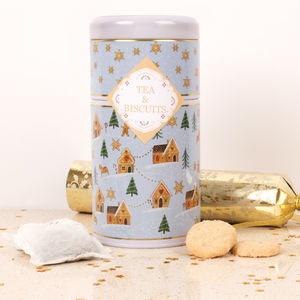 Gingerbread Wonderland Duo Tin Of Tea And Biscuits - tea & infusions