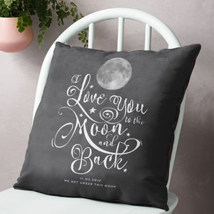 'I Love You To The Moon And Back' Personalised Cushion - children's cushions