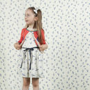 Girls Embroidered Swallow Cardigan