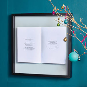 Personalised Favourite Song Framed Book - anniversary prints