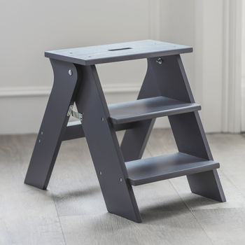 Step Stool In Charcoal Spruce