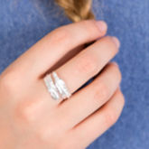 Feather Sterling Silver Adjustable Ring - women's jewellery