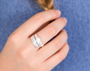 Feather Sterling Silver Adjustable Ring - gifts for mothers