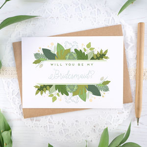 Foliage Will You Be My Bridesmaid Card - shop by category