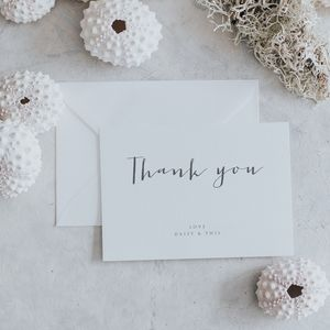 Amour Thank You Cards - shoreline wedding trend